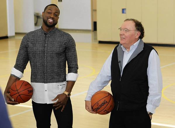 Heat star Dwyane Wade and author James Patterson are working together to spur children's literacy efforts.