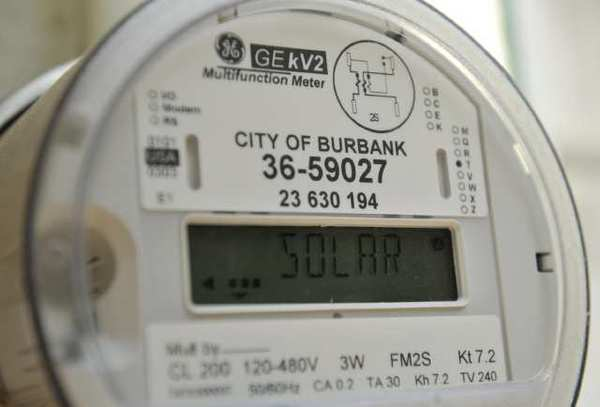 A city of Burbank utility meter.