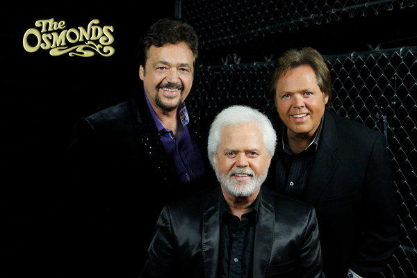 From left, Jay, Merrill and Jimmy Osmond will perform May 10-12 at the Orleans in Las Vegas.