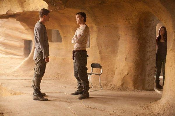 "Max Irons, left, Jake Abel and Saoirse Ronan in ""The Host."""