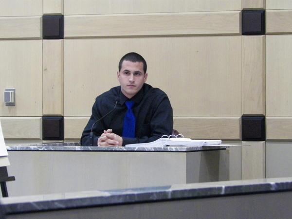 Mark Visconti testifies at the trial of Broward Sheriff's Deputy Jerry Wengert.