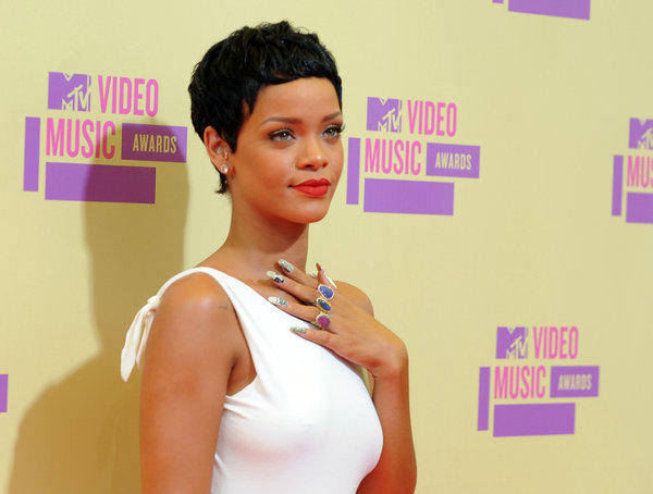 Rihanna arriving at the MTV Video Music Awards last September in Los Angeles.