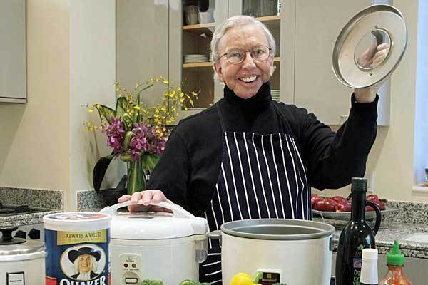 Despite not being able to eat because of illness, Roger Ebert's zest for cooking remained strong.