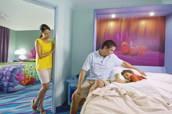 "Disney's Art of Animation Resort: ""Finding Nemo"" family suite."