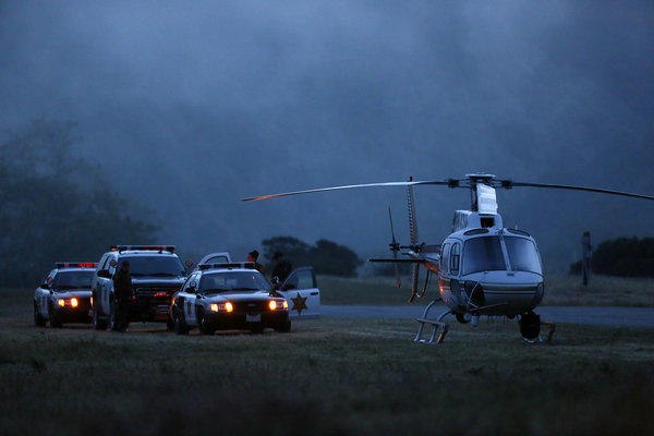 Helicopters were ready for deployment in the search for the missing hikers.
