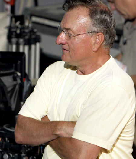 Ed Rush on the set of a movie shoot in 2007.