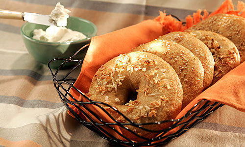 TRY YOUR HAND: Bagels of any flavor are easy to make. Simple ingredients ferment, then comes a fast boil and bake.