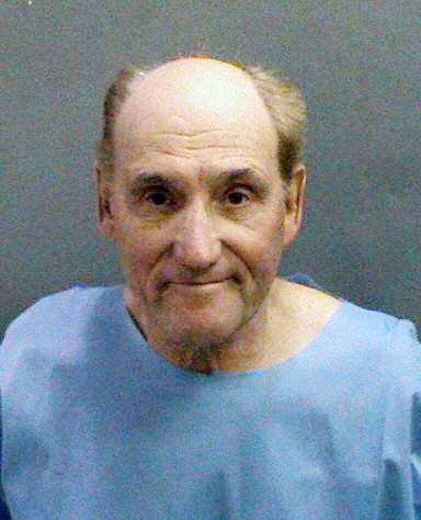 Booking photo of Stanwood Fred Elkus, 75, of Lake Elsinore, who is suspected of killing Dr. Ronald Franklin Gilbert.