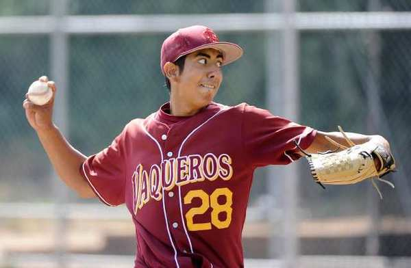 Glendale Community College pitcher Angel Rodriguez threw eight shutout innings in a 6-1 win over College of the Canyons. He struck out six batters and allowed just six base runners on five hits and a walk.