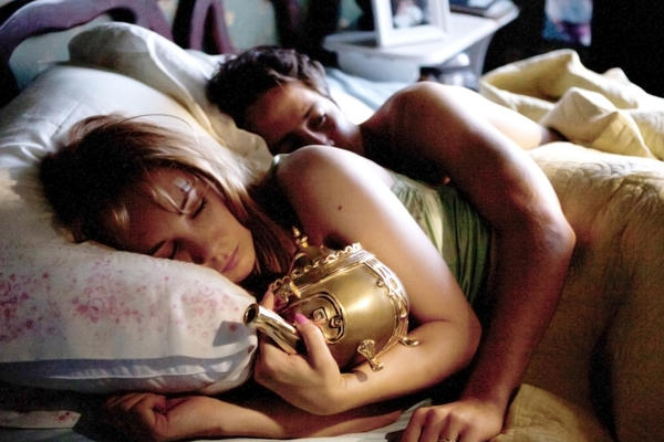 "Michael Angarano and Juno Temple in ""The Brass Teapot,"" a Magnolia Pictures release."