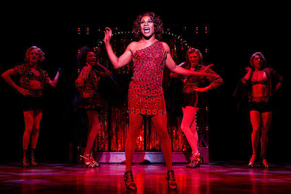 "Billy Porter, center, stars in ""Kinky Boots"" on Broadway."