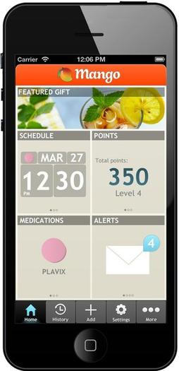 The Mango Health app home screen