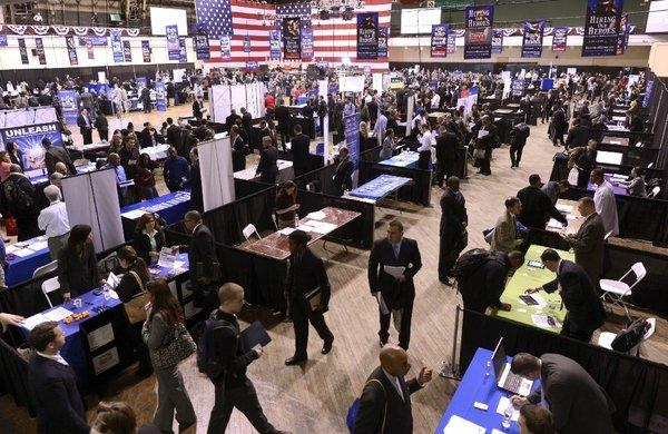 A job fair in New York.