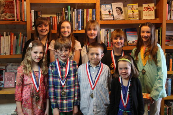 McLean & Eakin short story contest winners include (back row, from left) Delaney Carlson, Marion Watson, Abbi Caron, Jacob Tuck, Abby Kendziorski; (front row) Molly Anderson, Alexander Carlson, Andre Panos and Cadence Glass. Winners not pictured, Seth Izzard, Danielle Sylvain, Grace Marshall and Bethany Drier.