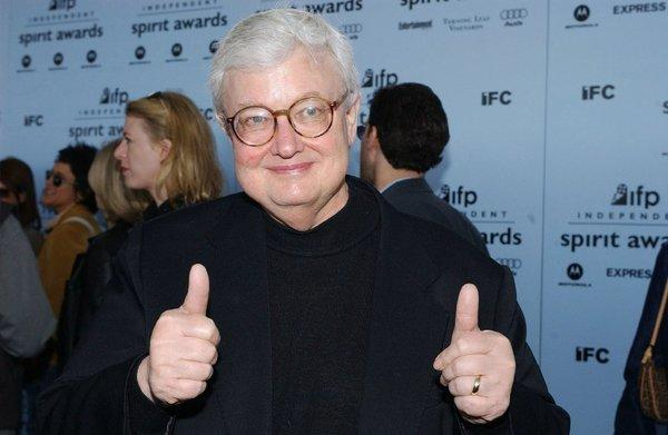 Roger Ebert and his famous thumbs.