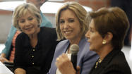 "As Los Angeles faces the possibility of having no women holding elected office at City Hall come July, some of California's most well-known female politicians<a href=""http://www.latimes.com/news/local/la-me-mayor-women-20130405,0,6866281.story""> joined forces</a> to promote Wendy Greuel's mayoral bid."