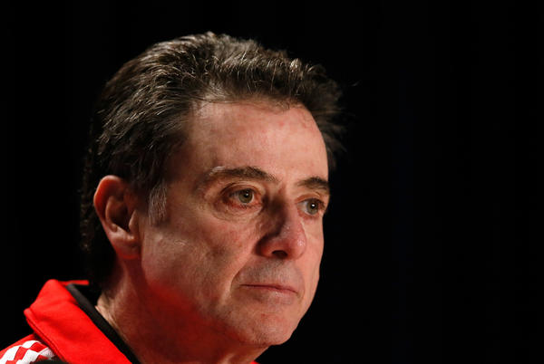 Head coach Rick Pitino of the Louisville Cardinals.