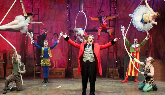 "Gene Weygandt is Phineas Taylor Barnum in ""Barnum"" at the Mercury Theater."