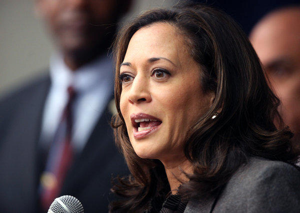 "California Atty. Gen. Kamala Harris was referred to by President Obama as ""the best-looking attorney general."""