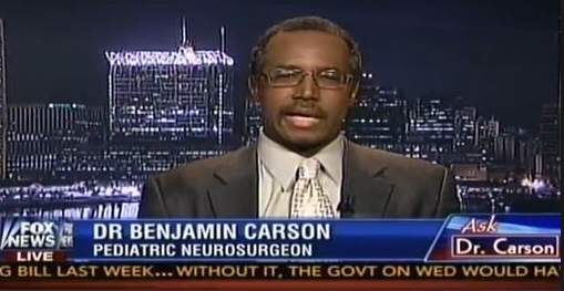 Dr. Ben Carson on Fox News. Carson's comments on gay marriage are now labeled 'offensive' and 'hurtful' by Johns Hopkins Medical CEO Dr. Paul Rothman.