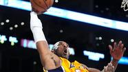 In a show of stamina after spraining his ankle and suffering a sore foot (bone spur), Kobe Bryant has played in all but 79 seconds of the Lakers' last two games.