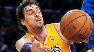 Pau Gasol finished four assists shy of a triple-double Tuesday night as the Lakers defeated the Dallas Mavericks, 101-81.