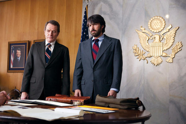 "This undated publicity film image released by Warner Bros. Pictures shows Bryan Cranston, left, as Jack ODonnell and Ben Affleck as Tony Mendez in ""Argo,"" a rescue thriller about the 1979 Iranian hostage crisis. ""Argo"" will be shown the opening night of the Maryland International Film Festival-Hagerstown followed by a Q&A with the real life Tony Mendez."