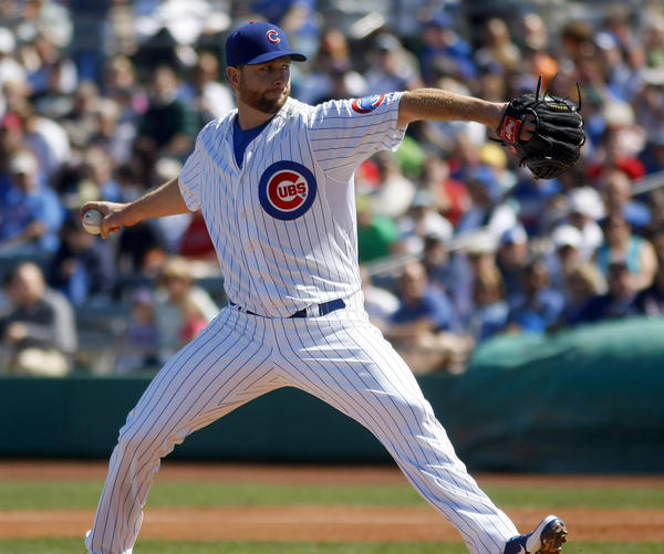 Chicago Cubs pitcher Scott Feldman.