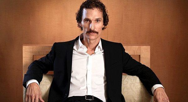 "Matthew McConaughey lost weight to play Ron Woodroof in ""Dallas Buyers Club."""