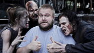 "If you're dreading not having any new ""Walking Dead"" this weekend, look to ""The Nerdist"" on BBC America. ""Walking Dead"" creator Robert Kirkman is a guest on the show at 10 p.m. Saturday."
