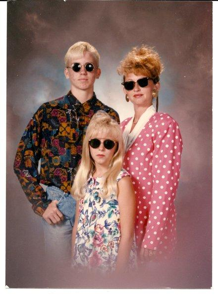 A photo provided by AwkwardFamilyPhotos.com, which draws many of its images from family portraits shot at studios in Sears and Wal-Mart.