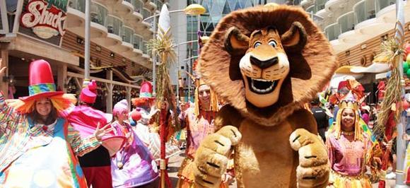 Dreamworks' Madagascar characters on Royal Caribbean