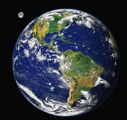 "This <a href=""http://visibleearth.nasa.gov/view.php?id=54388"">image of Earth</a> was generated by researchers in the Laboratory for Atmospheres at NASA's Goddard Space Flight Center in Greenbelt, Md., using data from three different satellite instruments."