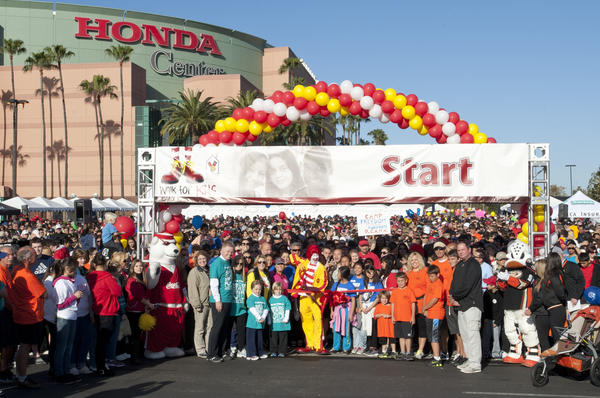 The start of the 2012 Walk for Kids event benefiting Ronald McDonald House Charities of Southern California.