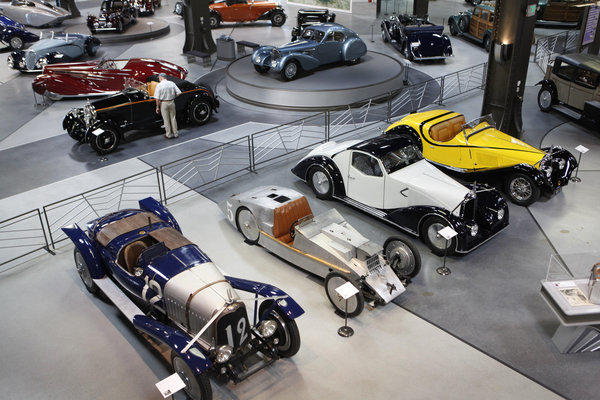 The Mullin Automotive Museum in Oxnard is exhibiting a collection of automobiles designed by Gabriel Voisin in the 1920s and '30s.