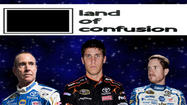 "So apparently while I have been neck deep in Kansas basketball this weekend, Joe Gibbs Racing and Michael Waltrip Racing have been doing their best to recreate the quirky 80's Genius hit ""Land of Confusion,"" minus the creepy puppets."