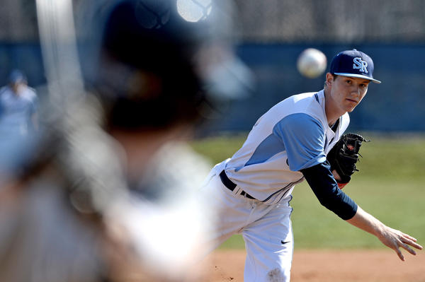 South River pitcher Scott Mitchell delivers a pitch against Severna Park in the 2-1 win.