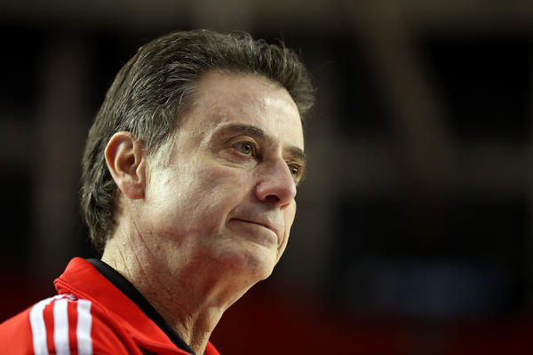 Louisville coach Rick Pitino. (Getty Photo)