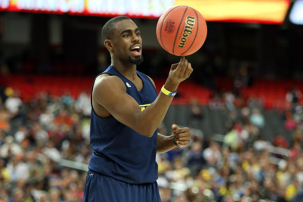 Michigan's Tim Hardaway Jr. during practice Friday. (Getty Photo)