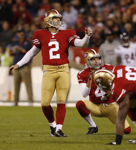 The Lions signed former 49ers kicker David Akers. (Jos M. Osorio/Tribune Photo)