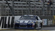 Jimmie Johnson laid the hammer down to the tune of 98.53 miles an hour to claim the pole position for Sunday's STP Gas Booster 500 at the Martinsville Speedway.  Johnson has won 7 times on the half mile oval.  Marcos Ambrose was 2nd fastest in qualifying.