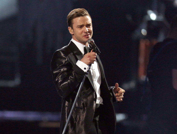 Justin Timberlake during the BRIT Awards 2013 in London.