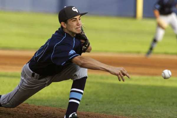 Crescenta Valley High pitcher Brian Gadsby threw a four-hit shutout in a 3-0 win over Burbank High.