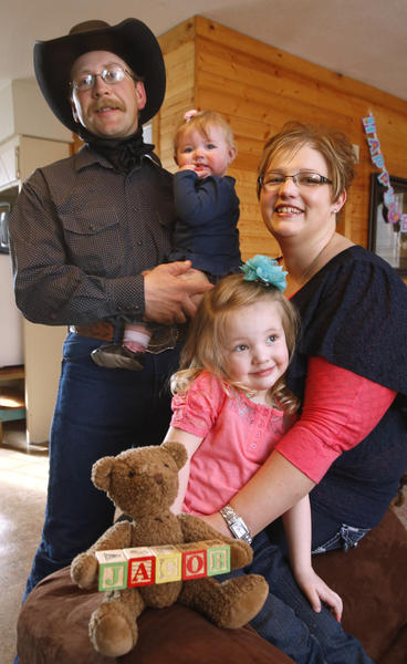 Justin and Jackie Kessler along with their daughters, 8-month-old Charlee and 3-year-old Chancey, have been selected as the ambassador family for the March for Babies, an event that is part of the March of Dimes, in South Dakota. The Wetonka family lost their son, Jacob, to a chromosome defect called Trisomy 13 in 2011.