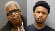 A 64-year-old woman has been charged along with her grandson in the slaying of her 72-year-old husband, who was killed on his way to dialysis treatment, police said.
