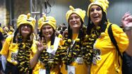 A sea of black and gold packed the Georgia World Congress Center Saturday afternoon before the Shockers tipped off agaisnt Louisville.