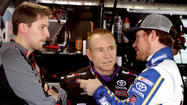 "In picking <a href=""edit"">Brian Vickers</a> to substitute for <a href=""edit"">Denny Hamlin</a>, <a href=""edit"">Joe Gibbs Racing</a> got a driver who can"