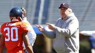 CHARLOTTESVILLE — Virginia's quarterbacks, running backs, receivers and linemen aren't the only ones adjusting to new coordinator Steve Fairchild's offense this spring. Tom O'Brien is right there with them.