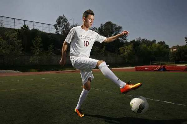 La Cañada High's Armand Bagramyan, 17, is the 2013 All-Area Boys' Soccer Player of the Year.