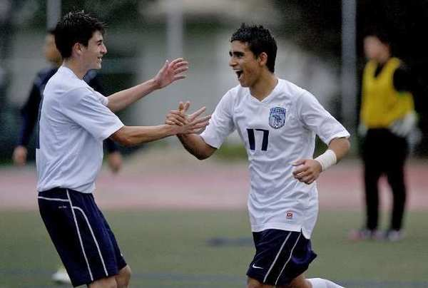 ARCHIVE PHOTO: Crescenta Valley High's Pablo Sotillo, right, is an All-Area first-teamer.